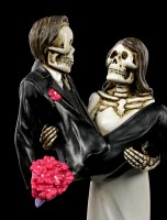 Skelett Brautpaar Figur - Braut trägt Bräutigam