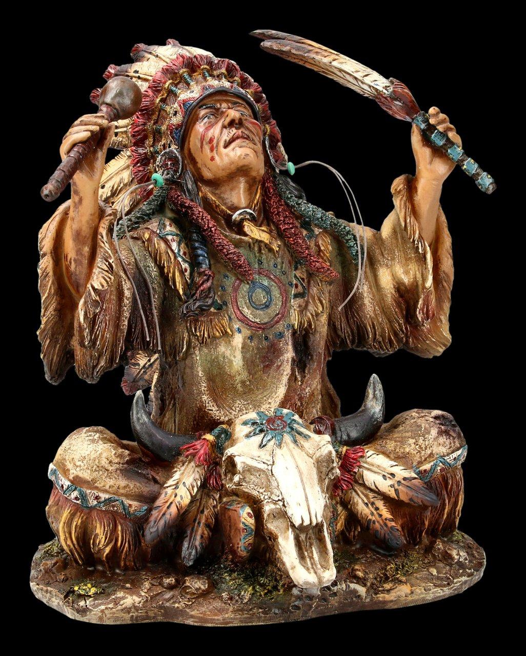 Indianer Figur - Häuptling ruft Götter