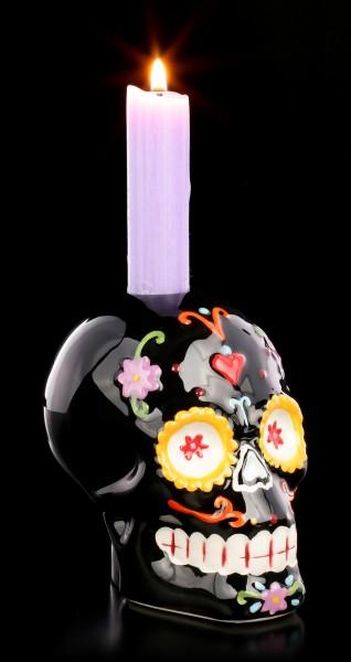 Skull Candle Holder - Sugar Carnival