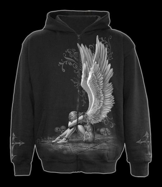 Kapuzenjacke Gothic Engel - Enslaved Angel