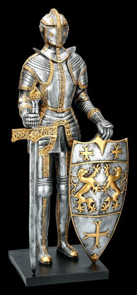 Large Knight Figurine with Sword and Shield