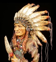 Indian Bust - Chief with Fan