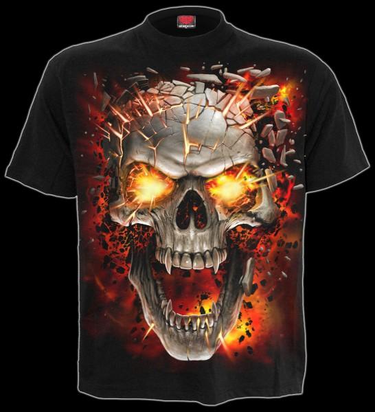 Spiral Totenkopf T-Shirt - Skull Blast