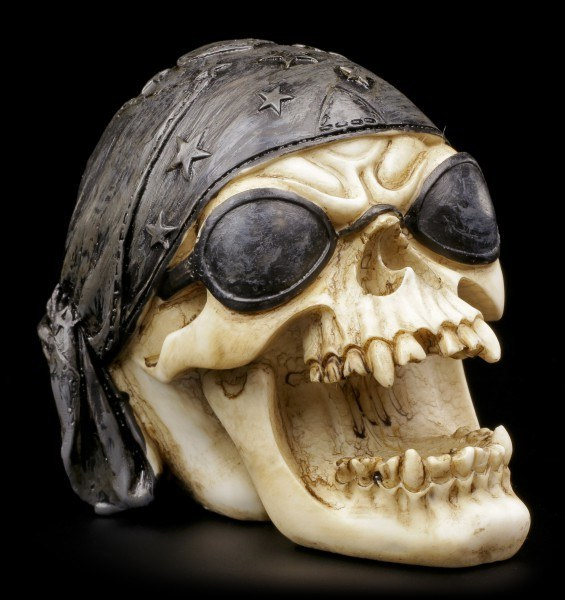 Skull with Sunglasses and Bandana
