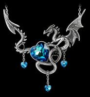 Alchemy Dragon Heart Necklace - Draig O Gariad