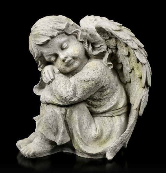 Angel Garden Figurine - Sleeping Child left