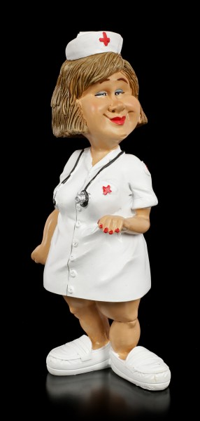 Funny Job Figurine - Nurse with Stethoscope