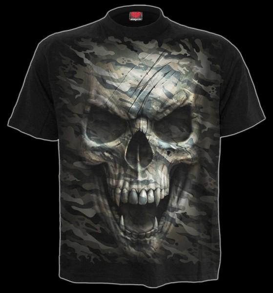Totenkopf T-Shirt - Camo-Skull
