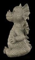 Gartenfigur - Ungezogener Drache zeigt Mittelfinger
