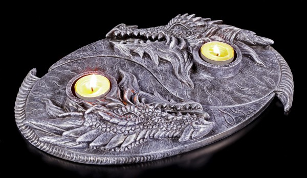 Tealight Holder - Dragon Yin Yang