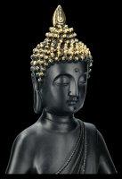Schwarze Buddha Figur - Lotussitz