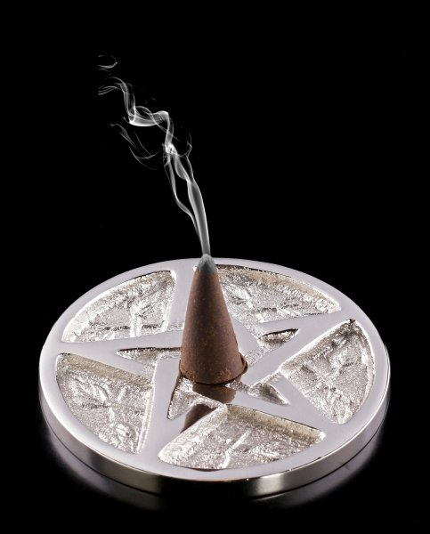 Aluminium Incence Cone Holder - Pentagram