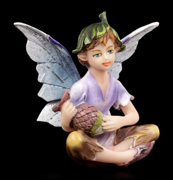 Small Fairy Figurine - Boy with Acorn
