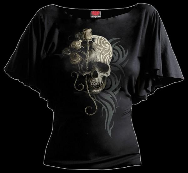 Damen Totenkopf Shirt - Dark Angel