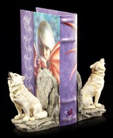 Wolf Bookend Set - The Guardians