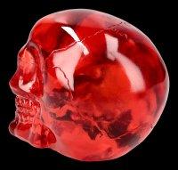 Totenkopf - transparent rot