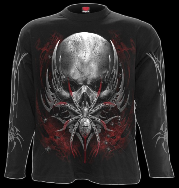 Langarmshirt Totenkopf Spinne - Spider Skull