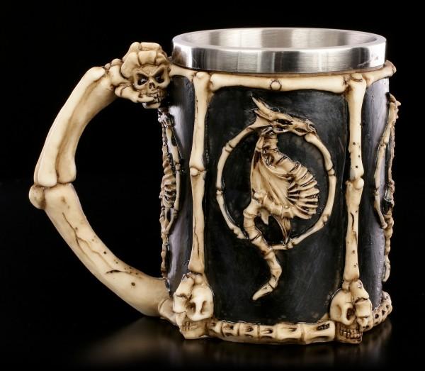 Drachen Skelett Krug - Draconic Sigil