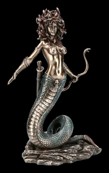 Medusa Figurine with Snake Bow