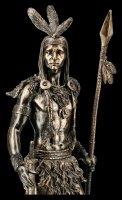 Indianer Krieger Figur - Krieger mit Speer