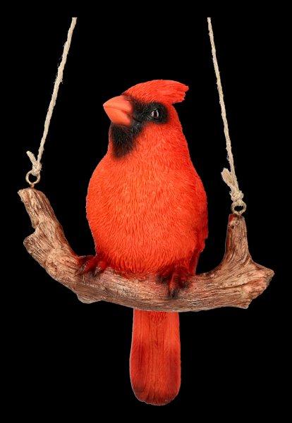 Bird Figurine - Red Cardinal on Branch