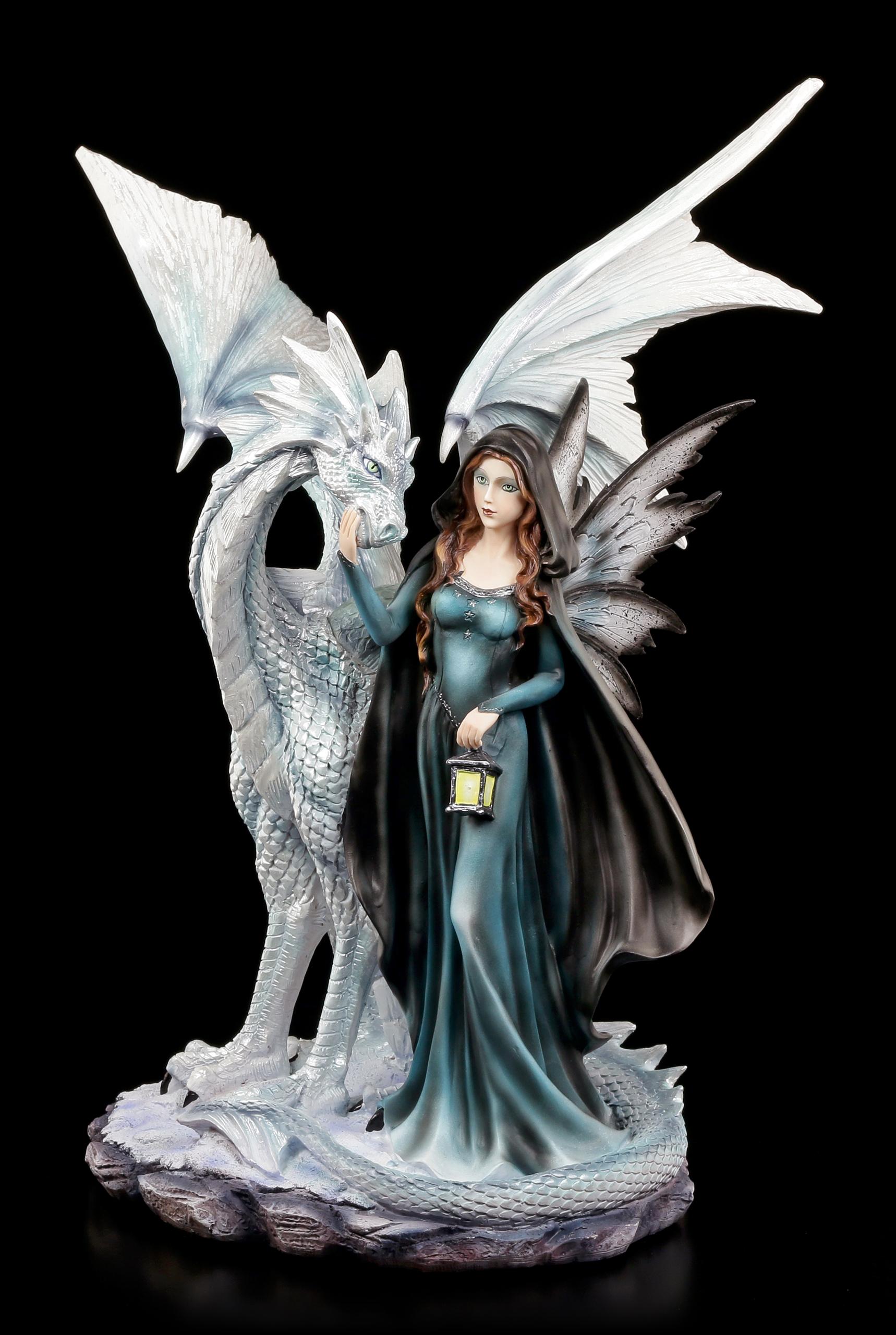 Elfen Figur Inion Mit Laterne Und Drache