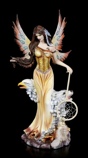 Fairy Figurine - Iris with Dreamcatcher