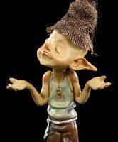 Pixie Goblin Figurine - I don't know anything