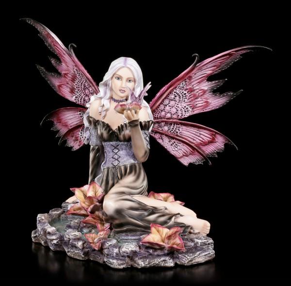 Fairy Figurine - Herbania gives small Dragon a Drink