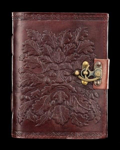Leder Notizbuch mit Schloss - Greenman
