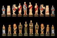 Schachfiguren Set - Römer vs. Gladiatoren