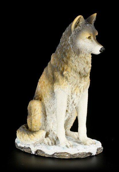 Wolf Figur - sitzend