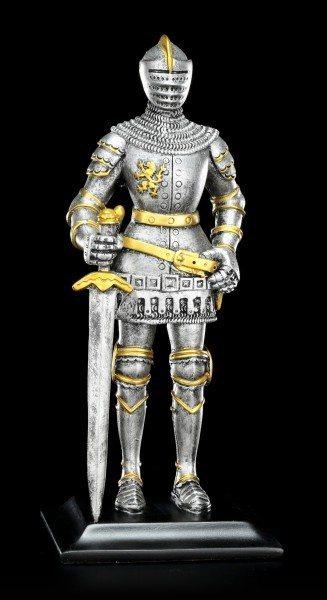 Ritter Figur mit Schwert auf der rechten Seite