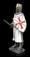 Crusader Figurine with raised Sword and Shield