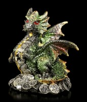 Dragon Figurines Set of 4 - Lucky Coins