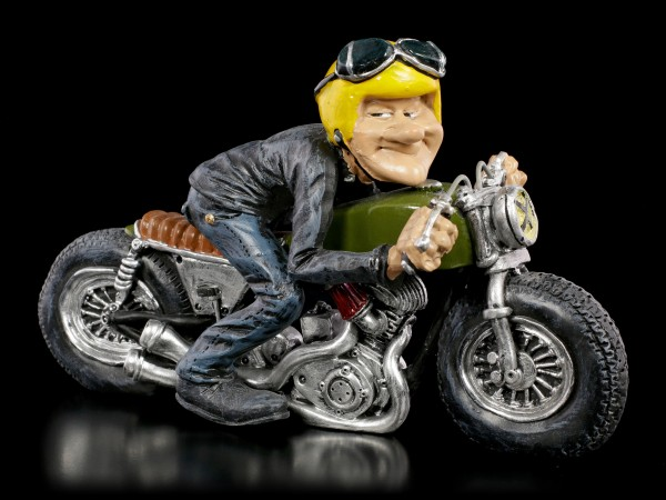 Funny Life Figurine - Biker with yellow Helmet