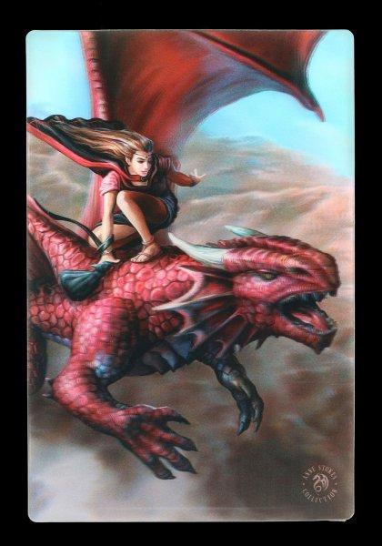 3D Postcard with Dragon - Sky Surfer