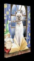 Kleine Leinwand mit Katze - Hocus Pocus