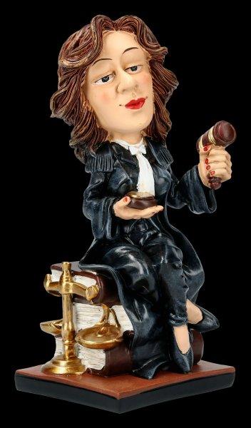Funny Job Figurine - Female Judge with Gavel
