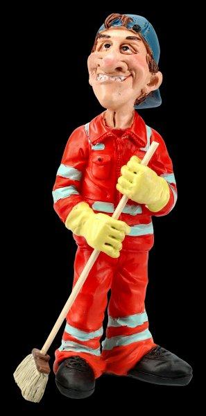 Funny Job Figurine - Sweeper with Broom