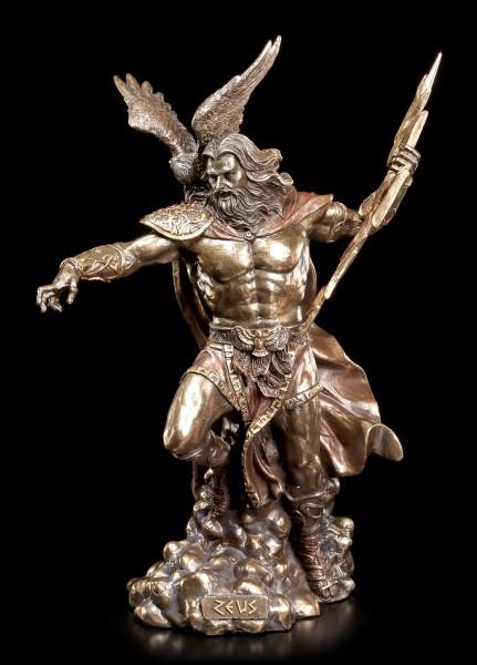 Zeus Figurine - Greek God Father with Eagle
