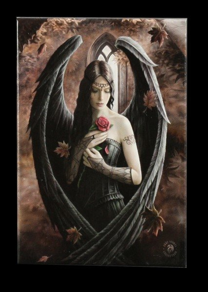 Magnet mit Engel - Angel Rose by Anne Stokes