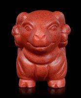 Altägyptische Widder Figur - rot