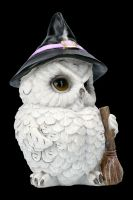 Owl Figurine with Witches Hat and Broom