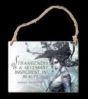 Alchemy Metallschild klein - Strangeness is a necessary ingredient