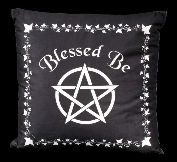 Kissen mit Pentagramm - Blessed Be