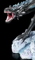Wizard Figurine - Merlin with black Dragon