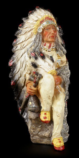 Indian Figurine - Sitting Chief