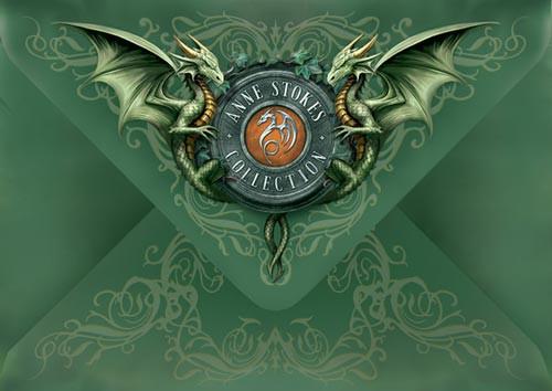 Dragon Christmas Card - Solstice Gathering