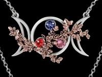 Alchemy Wicca Halskette - Dreifaltige Göttin der Liebe